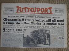 GIRO D'ITALIA ASTRUA MAGLIA ROSA CRONO SAN MARINO CICLISMO TUTTOSPORT 2/6/1951