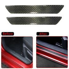 2x Car Carbon Fiber Door Sill Scuff Plate Panel Step Protector Cover Accessory X