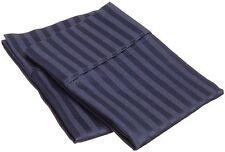 Pillow Case,  Egyptian Cotton 1000 TC, King Size - Navy Blue Stripe @Ebay-US