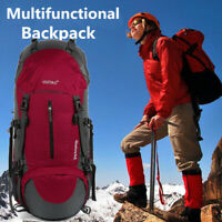 55L+5L Waterproof Outdoor Sport Hiking Camping Travel Backpack Daypack Rucksack
