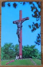Postcard Largest Wooden/Bronze Crucifix in the world. Indian River, Mich F275