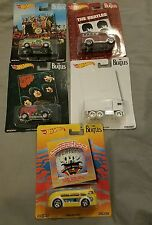 NEW THE BEATLES 2017 PoP Culture HOT WHEELS Complete 5 Car Collection Set HTF