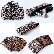 Multifunction Ladies Travel Leopard Polyester Makeup Toiletry Cosmetic Bag Hot