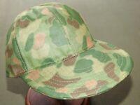 USMC Marine US WW2 CUSTOM FROGSKIN CAMO PONCHO BALL CAP Vtg Style Camouflage Hat