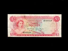 Bahamas (P028) 3 Dollars 1968 VF