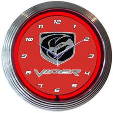 """Neonetics 8VIPER VIPER Neon Clock 15"""" Diameter NEW Man Cave LOOK"""
