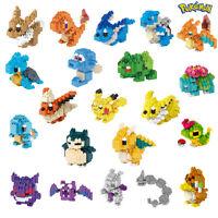 Kinder Nano Blocks Blocksteine Pokemon Serie Spielzeug Bausteine Modelle