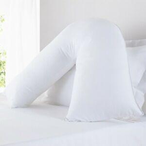 Luxury V Pillow Extra Cushioning Support Head Neck Back Orthopedic Anti Allergy