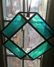Stained Leaded Glass Engraved with Treble Clef   Free *SameDayShip Available