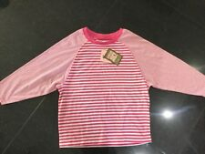 NWT Juicy Couture New & Gen. Pink 3/4 Sleeved Cotton T-Shirt & Logo Girls Age 10