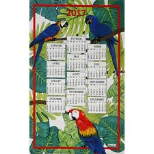 BEAUVILLE French Kitchen Dish Towel Gift New Colorful Coco CALENDAR 2017 Parrot