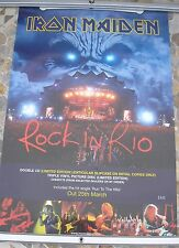IRON MAIDEN Rock In Rio promo poster 30 x 20 2001 original