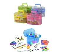 127PC Kids Childrens Mega Craft Box Giant Art Set Pom Poms Bead Creative glitter