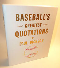 Rare BASEBALL'S GREATEST QUOTATIONS Leather Bound Boxed DICKSON Graphic Image !!