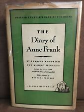 THE DIARY OF ANNE FRANK - Original 1954 Broadway Play - Hardcover