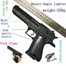 Pistol Gun Desert Eagle Lighter Windproof refillable butane gas cigarette metal