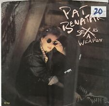 Pat Benatar 80s ROCK 45 & PS(Chrysalis 42927) Sex as a Weapon/Red Vision  M-
