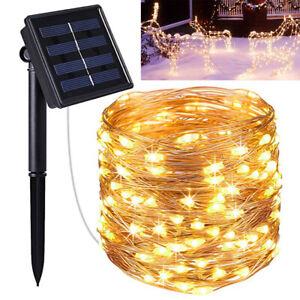 22M 200 LED Solar Fairy Lights String Lamps Party Wedding Decor Garden Outdoor