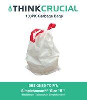 50 REPL Simplehuman® Durable Garbage Bags size R 10L 2.6 Gallon