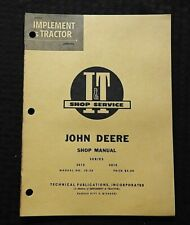 1961 JOHN DEERE MODEL 3010 4010 TRACTOR SERVICE SHOP REPAIR MANUAL
