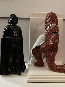 Star Wars vintage Sigma Ceramic Chewbacca Bookend With Darth  Vader 80's