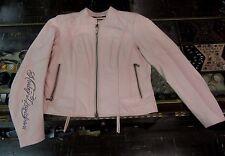 Harley Davidson Women's Charisma Pink Leather Jacket Size Petite L 97042-08VW