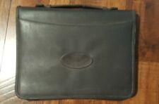 Leeds Zippered Padfolio 3 Ring Notebook Binder Organizer Pockets Handle School
