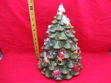 "SPODE CHRISTMAS TREE PORCELAIN FIGURAL LARGE 3D COOKIE JAR 12"" TALL"