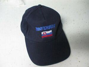 Matchbox Baseball cap/ hat- dark blue with flag emblem