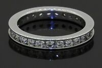18K white gold elegant 1.10CT VS diamond eternity band ring size 5.75