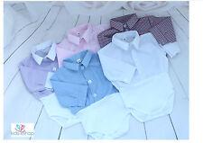 Baby Boy Outfit Smart Shirt Style Bodysuit Body Shirt Long Sleeve 0-18M