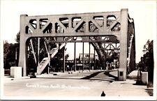 Real Photo Postcard Canal Bridge in Sault Ste. Marie, Michigan~134573