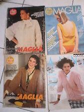 4 INSERTI ANNA BELLA e MAGLIA ANNA  IDEE CARDIGAN TRICOT PULL MODA anni 70 - 80