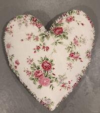 RACHEL ASHWELL SHABBY CHIC COUTURE PILLOW Pink Velvet 20 in Heart shaped