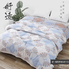 Luxury China blanket soft gauze blankets pure cotton bed sheet & 2 pillow towels