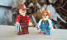 Custom Freddy Krueger vs Chucky Doll Horror Minifigure Size 2pc NEW