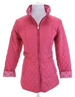 Susan Graver Pink Quilted Lightweight Full Zip Up Jacket Pockets Women Sz XS