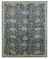 "Hand Knotted Indigo Oushak Wool Tribal New Oriental Rug Carpet 10'1"" x 14'2"""