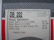 NISSAN CHERRY/SUNNY,SUBARU JUSTY front disc brake pads