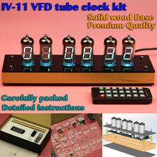 Vintage IV-11 VFD Nixie Tube Clock DIY KIT. Wooden case. Father Dad son bf Gift