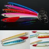 5x Deep sea Fishing Spoon Lure Metal Jig Lure Slice Jigbait Hook Spinner