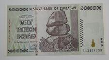 ZIMBABWE 50 TRILLION DOLLARS UNCIRCULATED