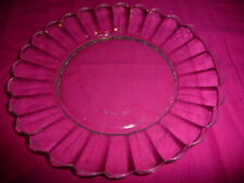 """Duralex Scalloped Glass 7"""" Plate  French 1970s Glassware - lovely"""