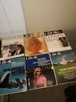 Look Magazine Lot of 6 - 1960'S; JOHN F. KENNEDY, NANCY SINATRA,  NICE COVERS...
