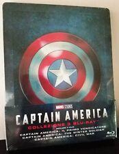 CAPTAIN AMERICA Trilogy First Avenger Winter Soldier Civil War BluRay STEELBOOK