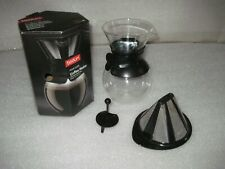 Bodum 11571-01 Pour Over Coffee Maker with Permanent Filter 34 oz Black
