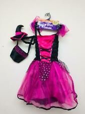GIRLS WITCH HALLOWEEN COSTUME OUTFIT AGE 7 - 9 YEARS, BRAND NEW - FREE P+P