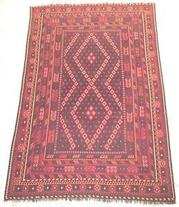 Alte Afghan Nomaden Kelim Teppich Maimana Handgewebt Uzbek Turkmenn Rug Carpet