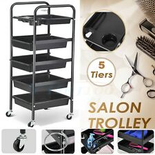Hairdressing Storage Trolley Beauty Salon Spa Rolling Cart Station Holder Tool