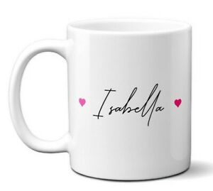 Personalise Your Name Signature Autograph Office Coffee Mug Gift 11oz Ceramic